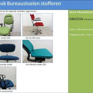 E-book Bureaustoelen stofferen